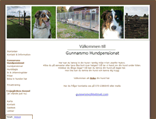Tablet Preview of gunnarsmo-hundpensionat-kennel.se
